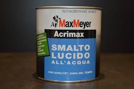 Smalto acrimax lucido 713 ml base rossa alta conc.